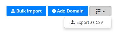 Export Domains